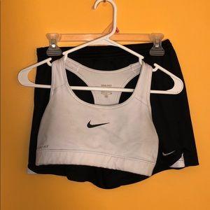 Nike Shorts and Sports Bra Combo!
